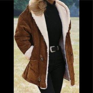 Victoria's Secret Suede Faux Fur Lined Jacket